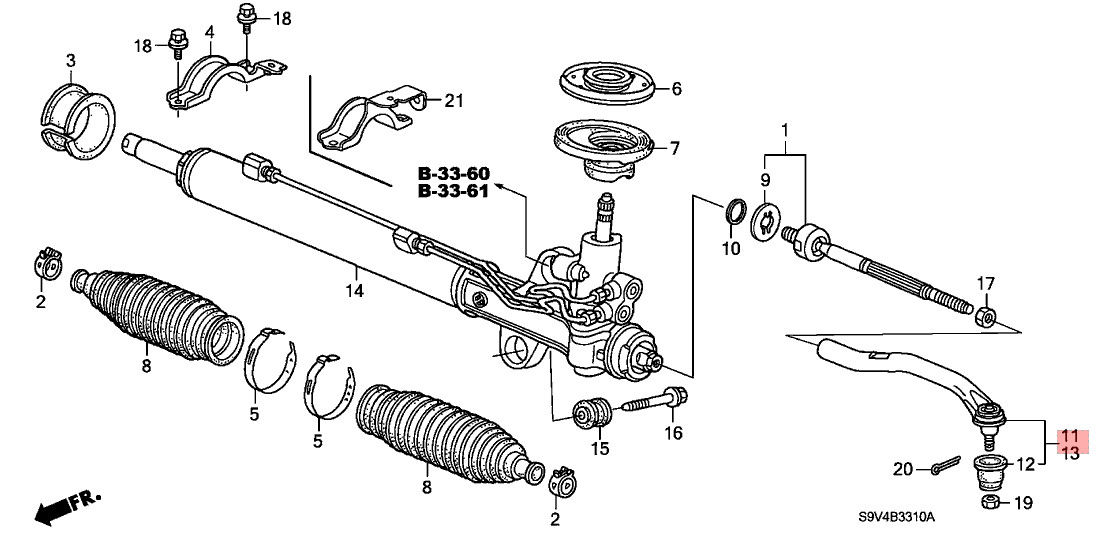 53540 S3v A02 Suspension Outer Tie Rod End Replacement Honda Acura. 53540 S3v A02 Suspension Outer Tie Rod End Replacement Honda Acura Mdx Yd1 Pilot. Honda. 2007 Honda Accord Tie Rod Diagram At Scoala.co