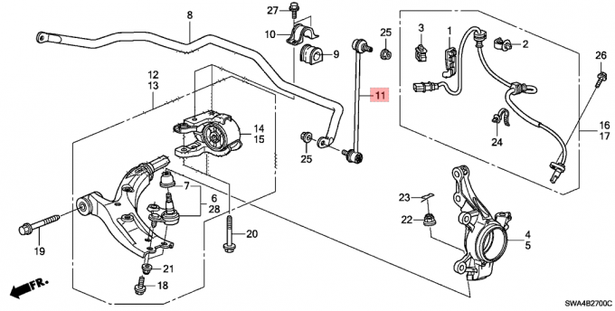 Honda Crv Front Suspension Diagram